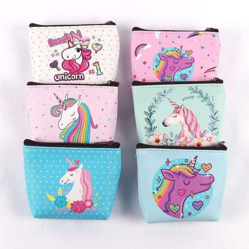 d7820dc1d7aa Cute Girl Kids Coin Purses Holder Kawaii Animal Unicorn Flamingo Women Mini  Change Wallets Money Bag Children Zipper Pouch Gift