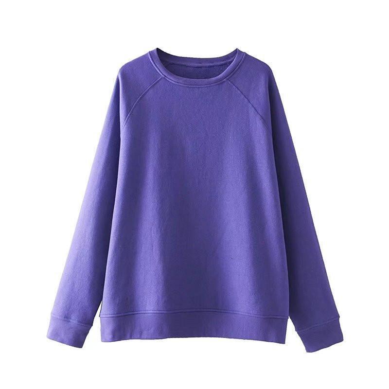 4d088a97d71 2019 Plus Size Women Clothing Casual Loose Hoodies Women Sweatshirt Purple  Blue Ladies Hoodie Pullover Big Size School Tracksuit From Kennethy