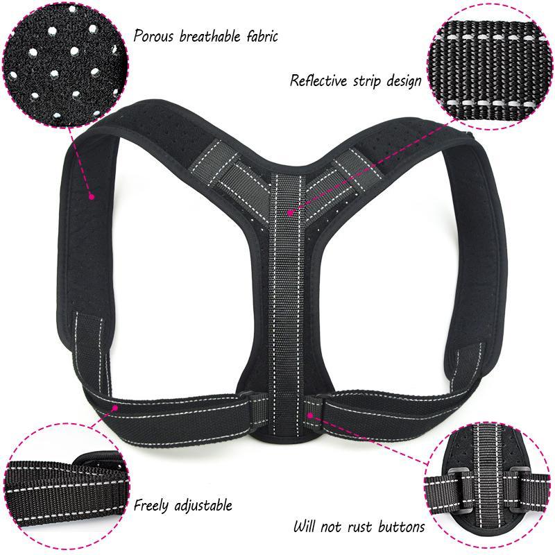 b22762a030721 2019 Men Women Back Hump Corset Body Shaping Orthotics Belt Back Braces  Support Correction Belt Posture Correcting Band Shaping From Enhengha
