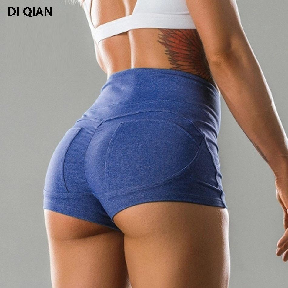 a4e9869e7ca881 Sexy Push Up Frauen Big Booty Laufen Yoga Gym Workout Sportlich Sport  Shorts mit hoher Taille Kompression Laufshorts Slim Fit