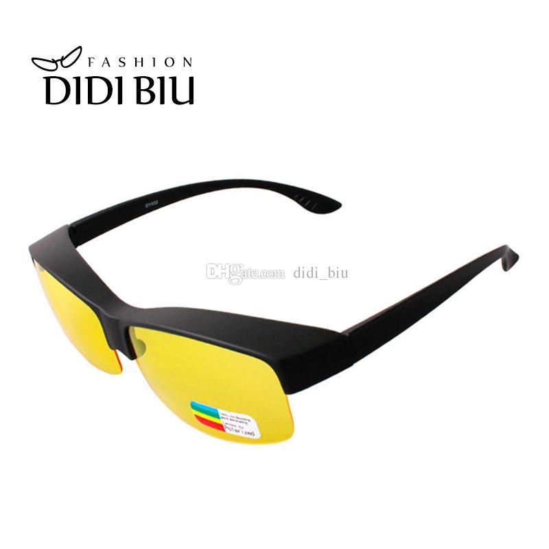 413a95f18d8 DIDI Polarized Myopia Cover Sunglasses Women Half Frame Night Vision ...