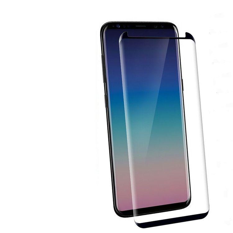 Case Friendly Gehard Glass 3D Gebogen voor Samsung Galaxy Note 8 S9 Plus S8 Plus S7 Edge / Geen retailpakket