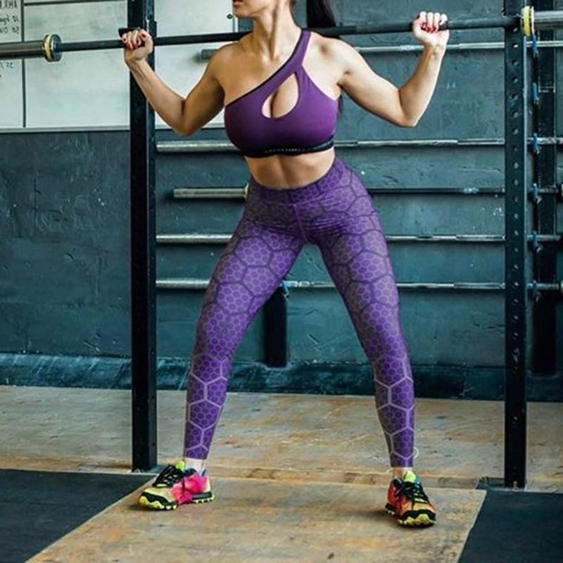 3b7122cbb450c Women Elastic Printed Yoga Pant Sport Leggings Fitness Running Tight ...