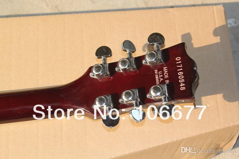De haute qualité, Double Cut Way, SG Standard en guitare électrique rouge foncé 2 micros Livraison gratuite