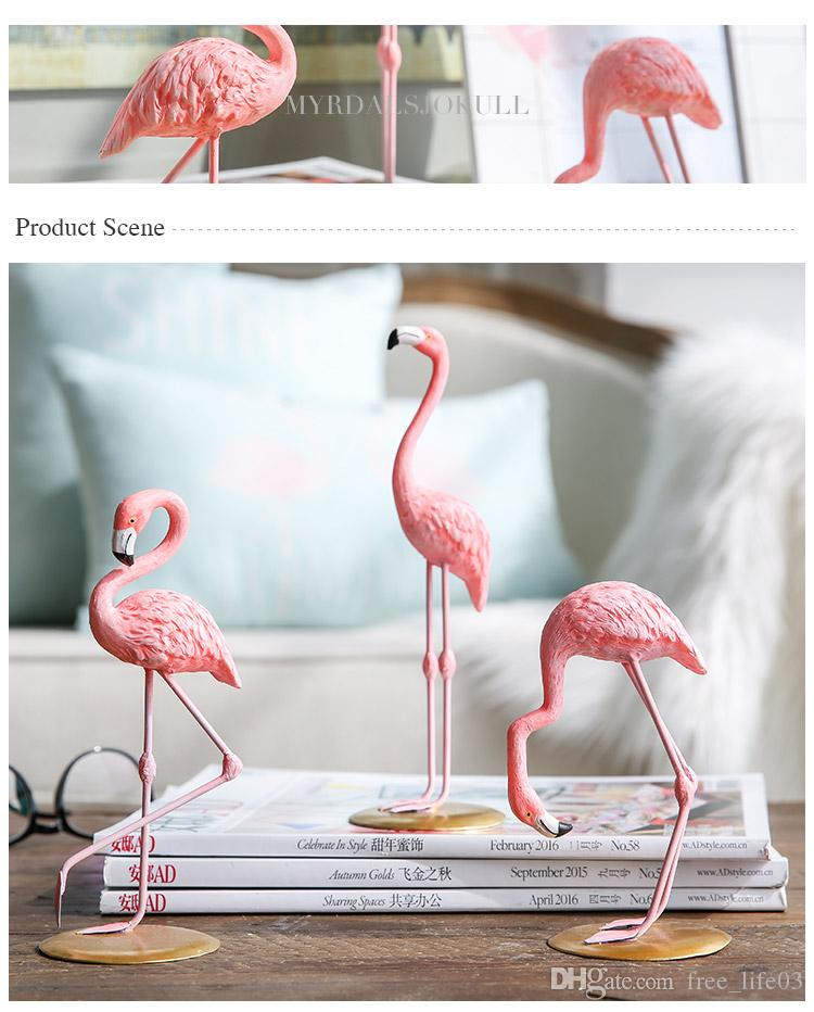 Pink Flamingo Decor Figure For Girl Ins Hot Home Gifts Room Design Interior From Free Life03 725