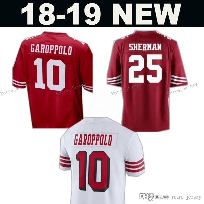 243f6ec15 ... italy 2018 49ers 10 jimmy garoppolo 7 colin kaepernick jersey 16 joe  montana 56 reuben foster