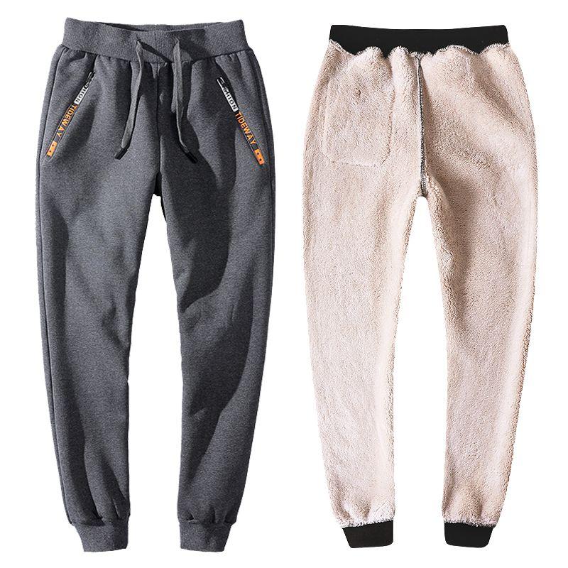 d732c3c660c03c YIHUAHOO Winter Pants Men 6XL 7XL 8XL Casual Thick Fur Lining Warm ...