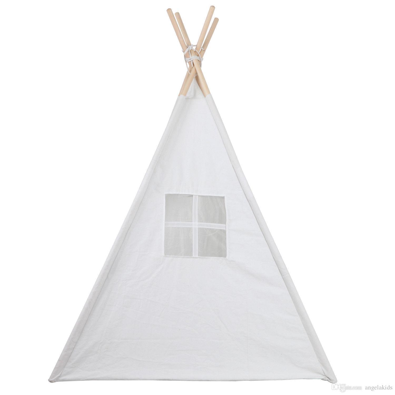 Tendas de brinquedo Tenda Dobrável Room Decor Crianças Brincam Casa Tenda Indiana Para O Jogo Ao Ar Livre Indoor Crianças Wigwam