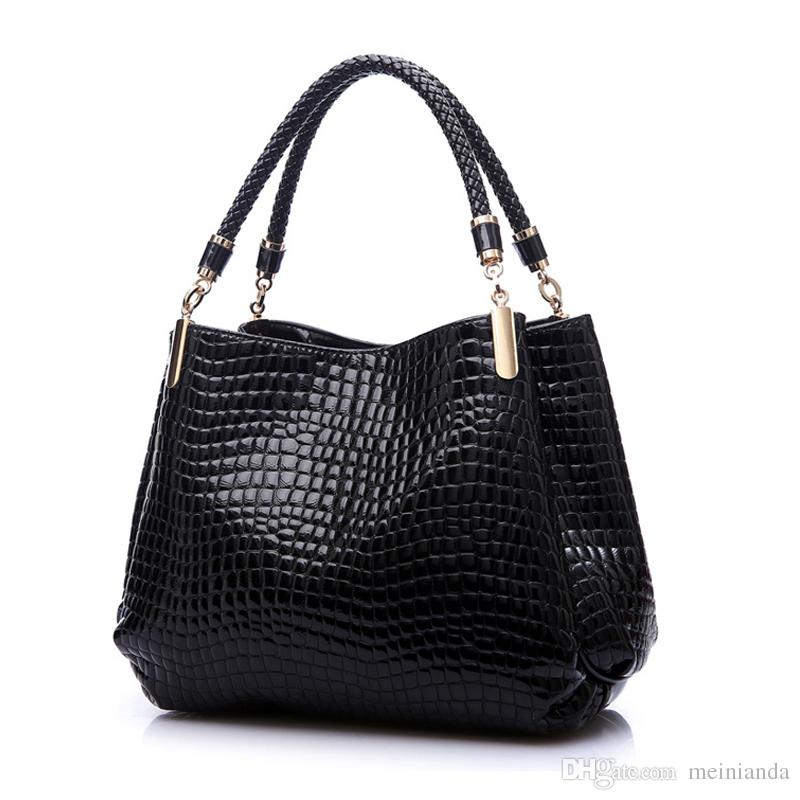 b634d9182d8 2018 Designer Handbag Women Leather Handbags Alligator Shoulder Bags High  Quality Hand Bag Bolsas Feminina Womens Bag Sac A Main Messenger Bags  Laptop Bags ...