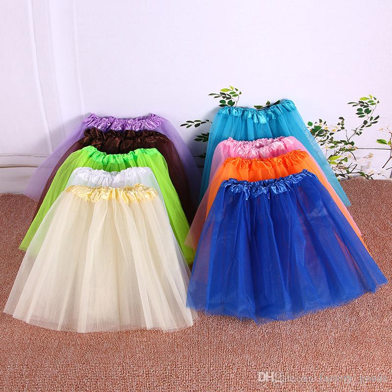 1e5715039 Bebés Niñas Faldas de Baile Niños Tutu Falda de Encaje de Tul Princesa  Faldas Cortas Para Niños Ropa de Baile Barato B183