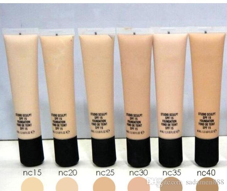 Factory Direct Free Shipping New Makeup Face Super Quality 40ml MA40 Foundation Liquid Spf 15!6Different Colors