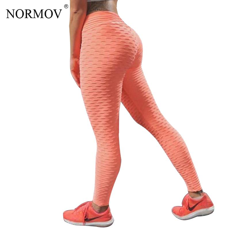 5eded04559877 2019 NORMOV Sexy Push Up High Waist Leggings Women Workout Leggings Femme Fitness  Clothing Solid Black Breathable Jeggings S18101502 From Jinmei02, ...