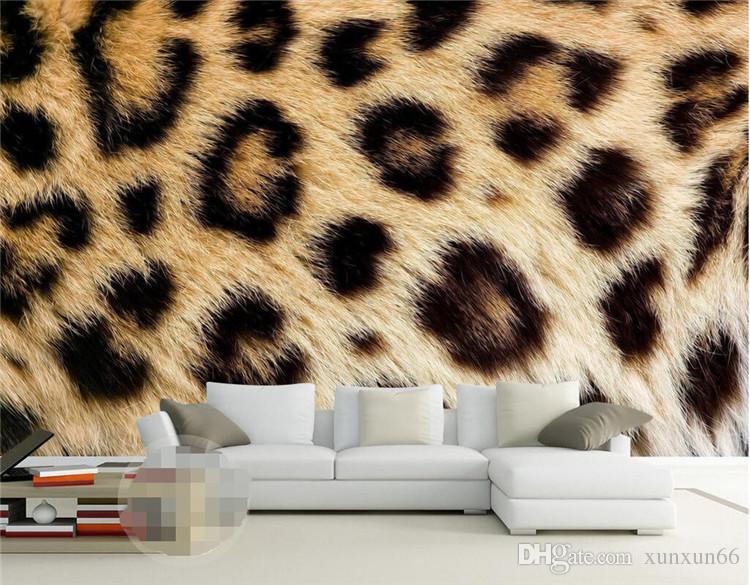 Mural Papéis de parede Home Decor Foto Fundo Papel De Parede Fotografia Leopard Textura Animal Hotel Banheiro Grande Murais De Parede