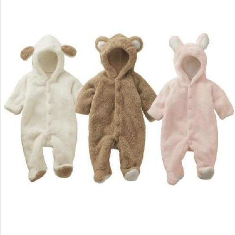 a72c896595e8 2019 Baby Newborn Baby Clothes Bear Onesie Girl Boy Rompers Hooded ...