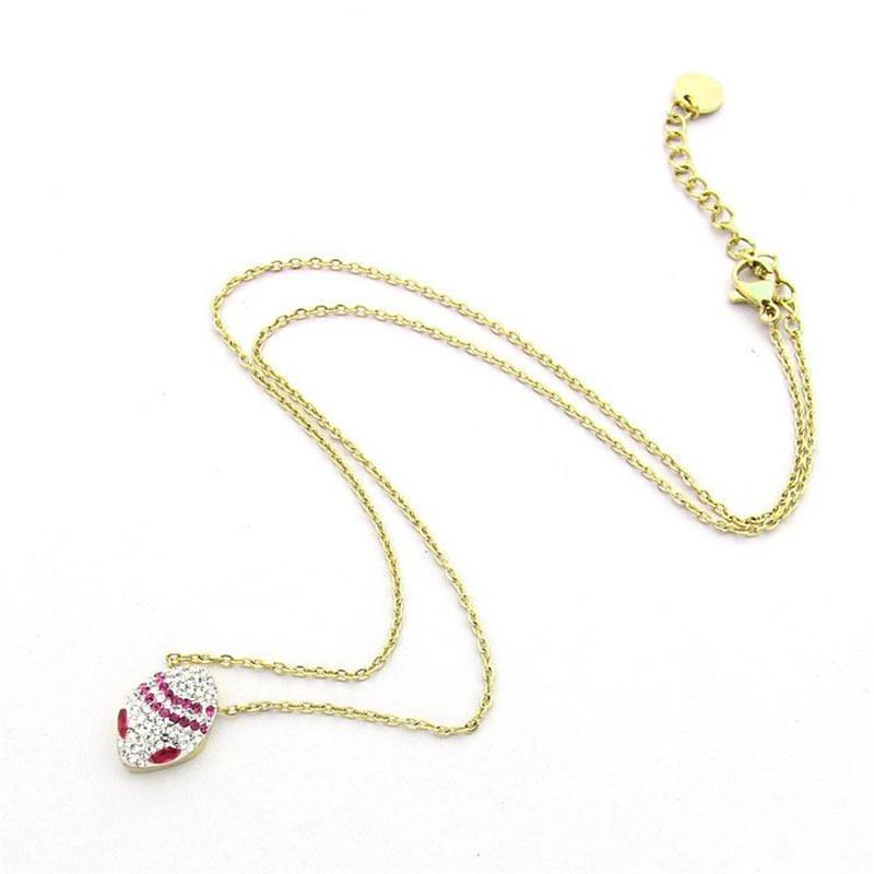 74e77157c1a6 Compre Marca De Lujo Mujeres Collar Colgante Titanio Acero Oro Rosa Plata  Cadena Collares Moda Mujer Serpiente Collar Collar Regalo Con Caja A  23.7  Del ...