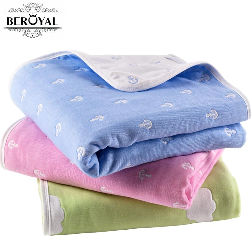 Six Layers Cotton Throw Blankets Kids Blanket For Beds Cute Kids Bedding Sets For Children Girls And Boys 110x110cm Multi Color