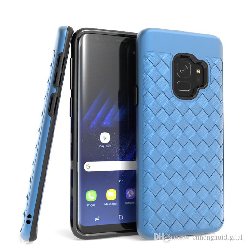 Für LG Aristo 2 K8 2018 K10 2017 Stylo 3 Hybrid TPU + PC Weben Telefon Fall Für Motorola MOTO E4 Stoßfest OPP tasche