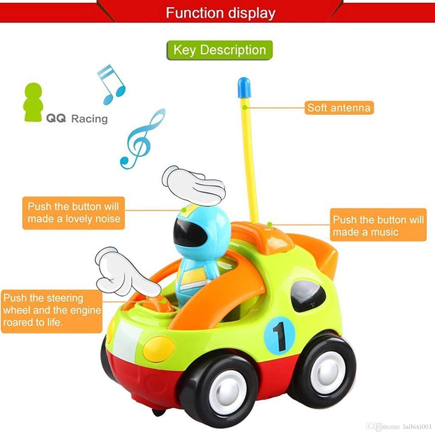 Prac RC Car Cartoon Cars Action Figure Cars Music Playing Cars Toy for Toddlers and Babies (C006)