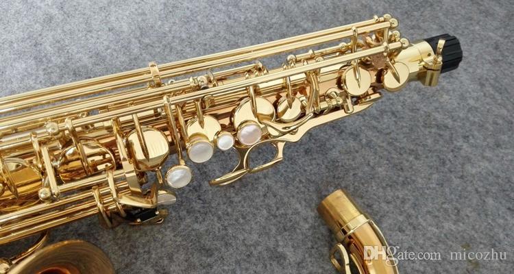 العلامة التجارية الجديدة مطلية بالذهب ياناجيساوا A-992 WO20 ألتو ساكسفون الآلات الموسيقية المهنية ساكس مع المعبرة ، القضية ، الملحقات