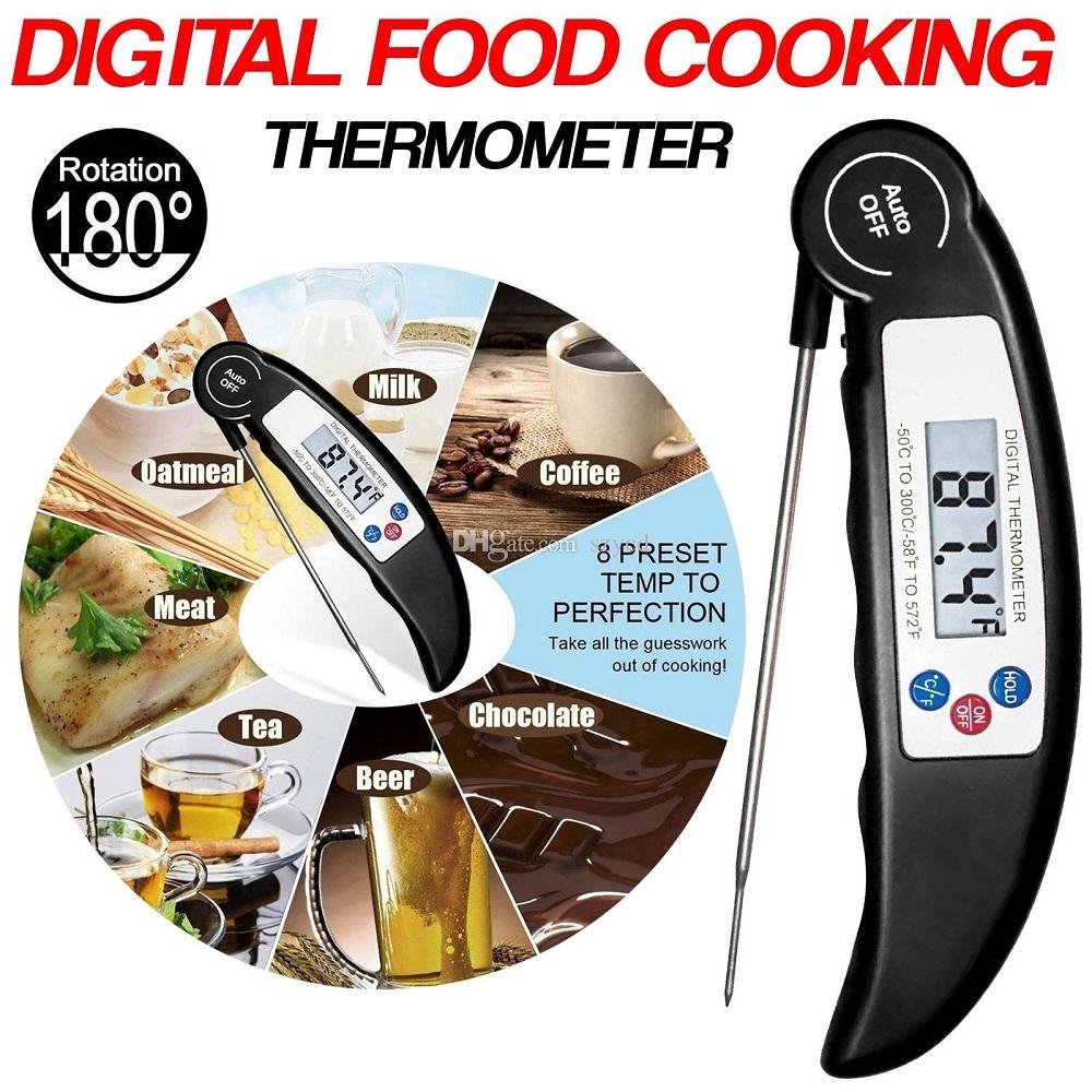 Digital Food Thermometer Probe Meat Grill BBQ Food Cooking Instant Read Smoker Kitchen Tool