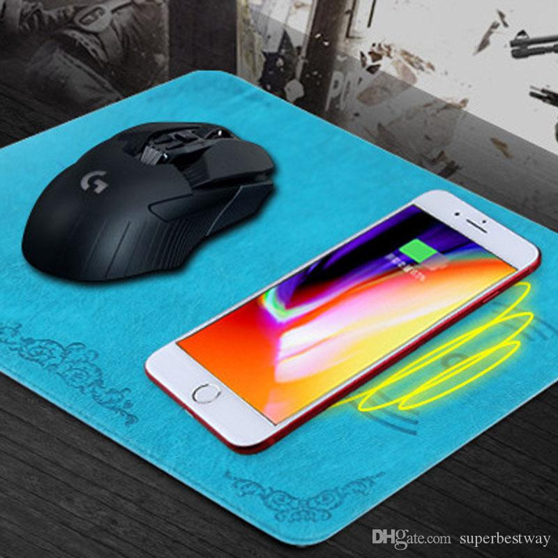 QI Cargador inalámbrico Super Thin Cargadores de teléfonos móviles inalámbricos Grosor Cargador de mouse inalámbrico para iPhone X OTH808