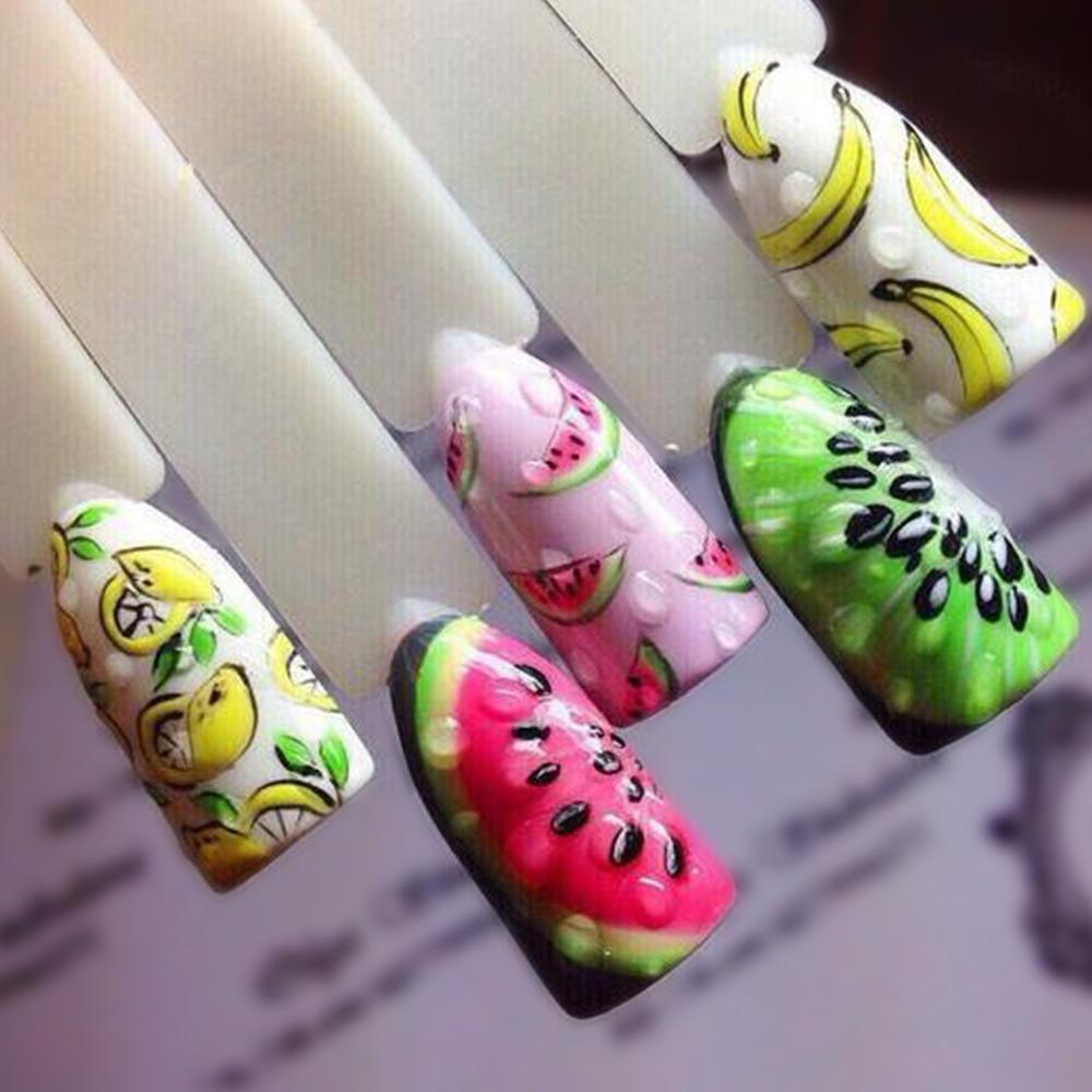 1 Sheet Fruit Design Nail Art Sticker Water Transfer Decals Summer ...