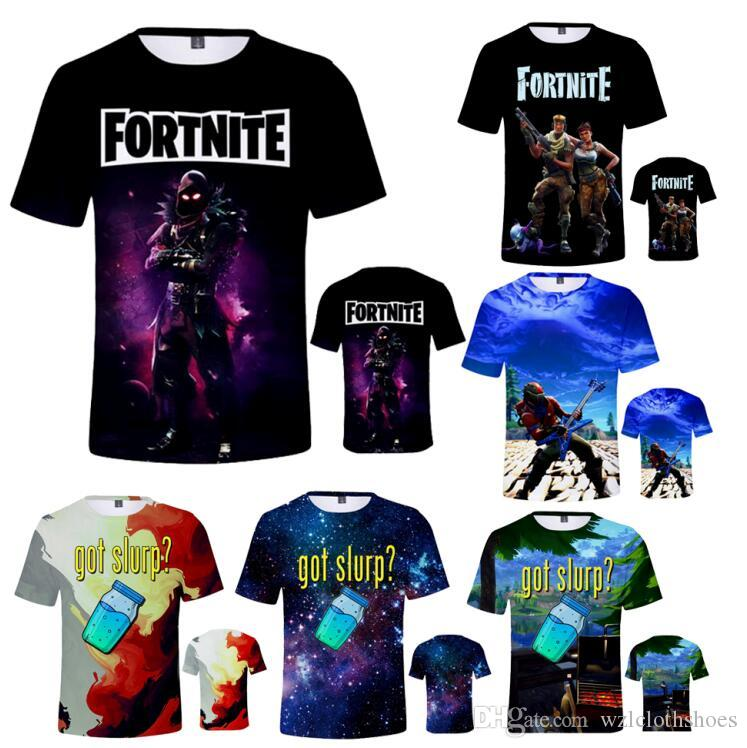 3f5254bd1 Boy Girls Fortnite T Shirt 3D Battle Royale Fortnight Short Sleeve O Neck T  Shirts Quick Dry Summer Fitness Tracksuit Tops For Kids NZ 2019 From ...