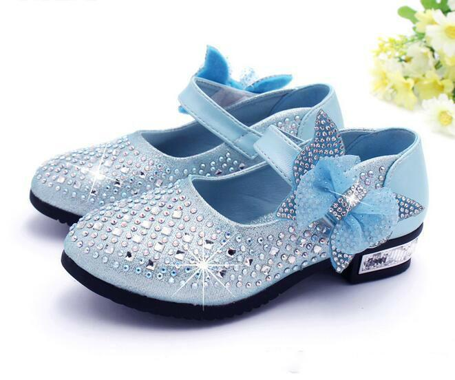 Fashion Girls Shoes Rhinestone Glitter Leather Shoes For Girls Spring Children  Princess Shoes Pink Silver Golden Online with  19.31 Piece on Wangfa88 s ... 8e04ecb4ea74