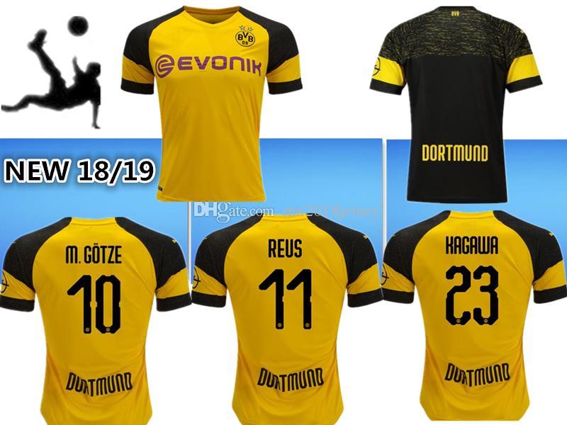 a96dd680ec445 Compre Qualidade Tailandesa 2018 2019 Dortmund Camisa De Futebol 18 19  AUBAMEYANG GOTZE KAGAWA DEMBELE PULÍSTICA REUS Borussia Dort CASA Camisas  De Futebol ...