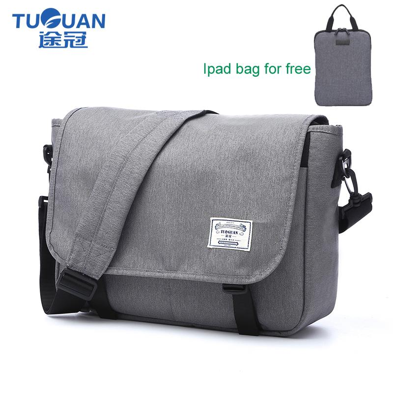 5adcf45b82a22 TUGUAN Brand Designer Unisex Waterproof Nylon Crossbody Bags For Teenage  Boys And Girls Daily Messenger Bags For 14 Slim Laptop Black Purses Handbags  From ...
