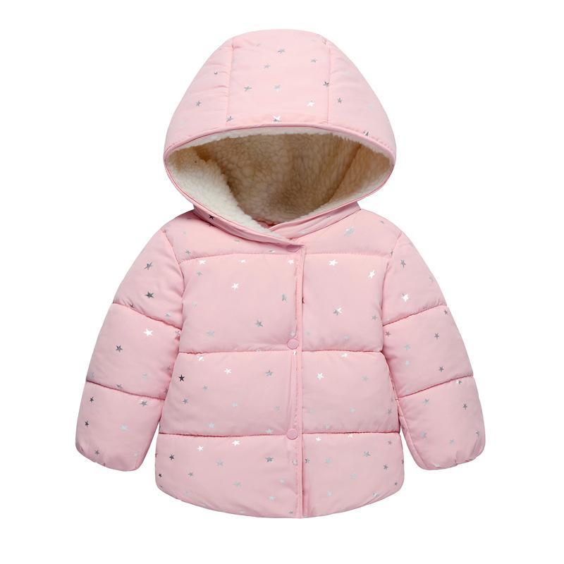 2c609489c26df New male girls casual cotton-padded clothes clothes, children's clothing  thick coat, small dot baby clothing; Autumn and winter