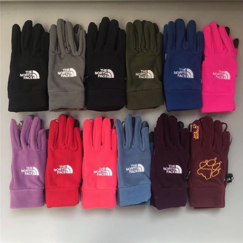 6c4ddd0f2 Brand NF Winter Gloves The North Warm Soft Fleece Touch Screen Gloves  Unisex Men Women Face Outdoor Sports Mittens Telefingers Gloves Gifts