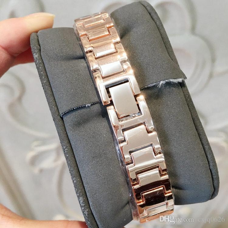 2019 nuovo modello moda donna di lusso orologio con diamante oro rosa speciale design Relojes de marca mujer lady dress orologio quarzo trasporto di goccia