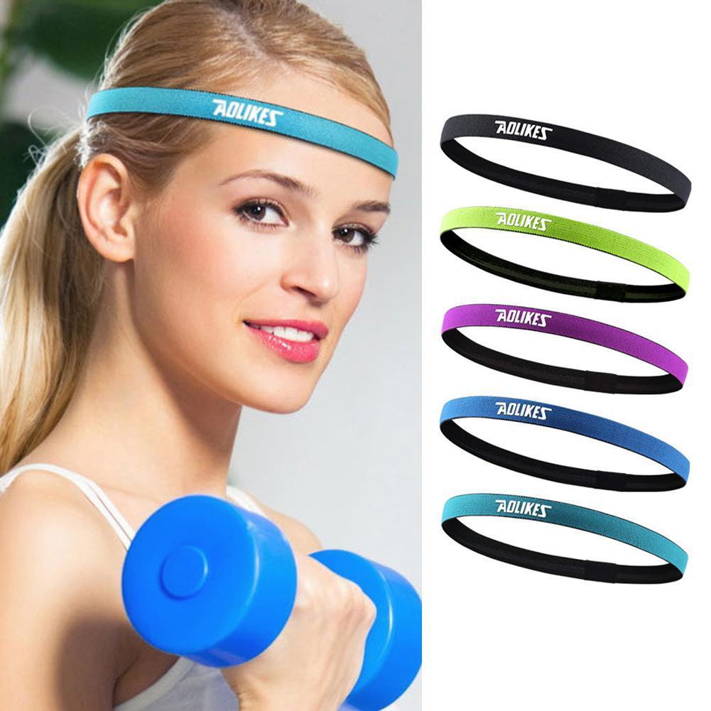 e0bf8403dd0 2019 Women Men Yoga Hair Bands Sports Headband Anti Slip Elastic Sweatband  Yoga Running Biking Headscarf Outdoor Sport Hairband From Kuaigoubian