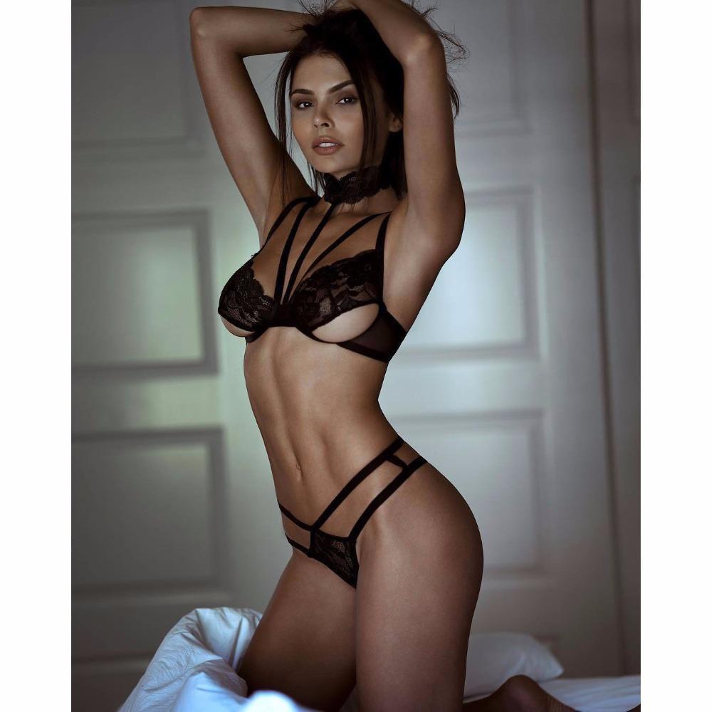 b737ee4b15c78 Women Sexy Lace Lingerie Set Hot Erotic Apparel G String Shelf Bra Sexy  Cupless Bra Set Babydoll Garter Set Sleepwear Nighwear S18101509 Lace  Lingerie Set ...