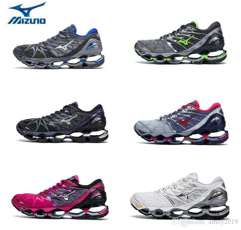 16521f80fb41 2018 New Mizuno Wave Prophecy 7 Running Shoe Buffer Fashion Mens Womens  Originals Top Quality Sports Sneakers Grayish Violet Size 36 45 Shoes Men  Tennis ...