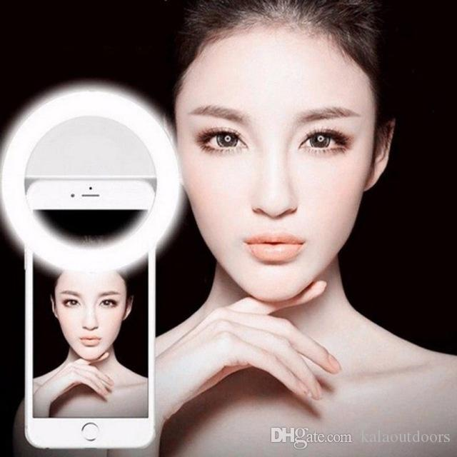 2018 Hot Selfie Lights 3 Mode Adjustable Brief Selfie LED Ring Flash Light Camera Photography