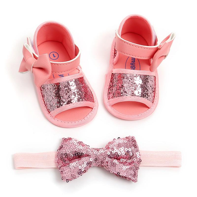 7c80f36a5c28e Sandals New Fashion Summer Baby Girl Sandals+Hairband Set Bow Shining PU  Infant Comfortable Shoes R3 Buy Kids Shoes Cute Shoes For Girls From  Bradle