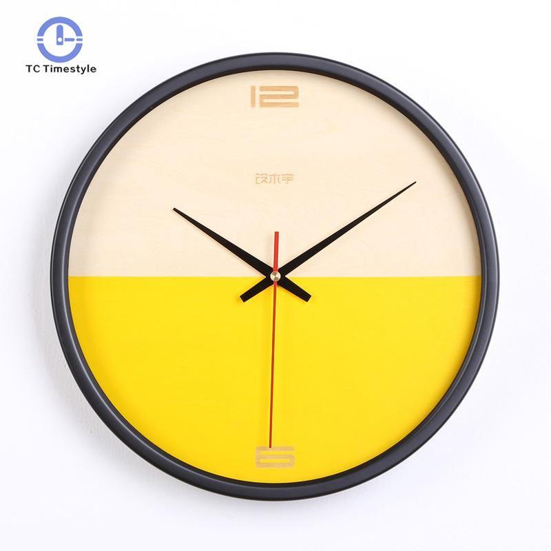 Acheter Horloge Murale Design Moderne Simple Face Horloges Murales