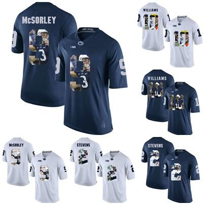 online store 31e09 3a5f4 Factory Outlet Cheap Mens Penn State 2 Stevens 9 McSorley 10 Williams Navy  White Printed Best Quality College Football Jerseys,free shipping