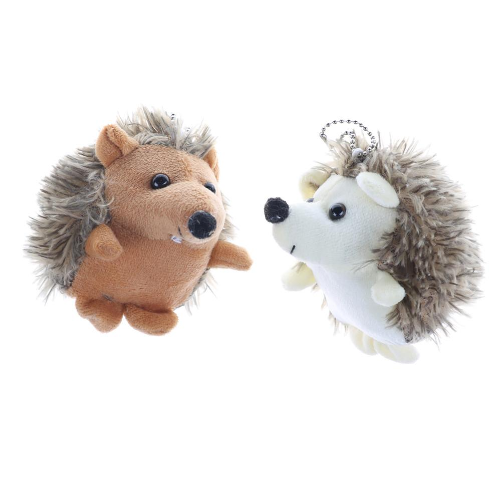 10cm Plush Hedgehog Toys Key Chain Ring Pendant Plush Toy Animal