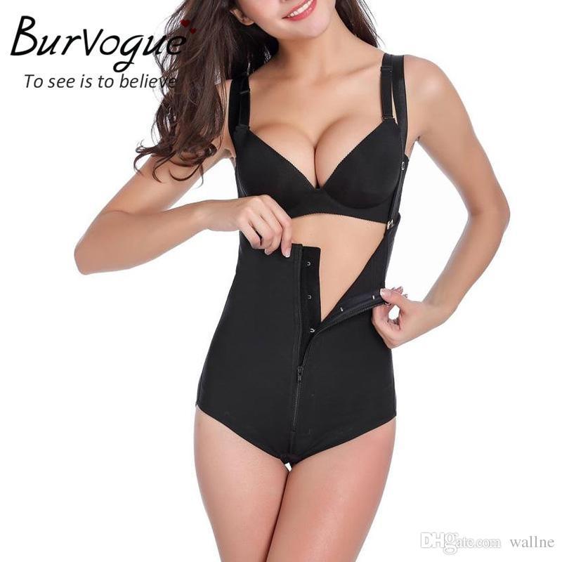 2259061109 Wholesale- Burvogue Hot Shapers Short Zipper   Buckle Latex Girdles ...