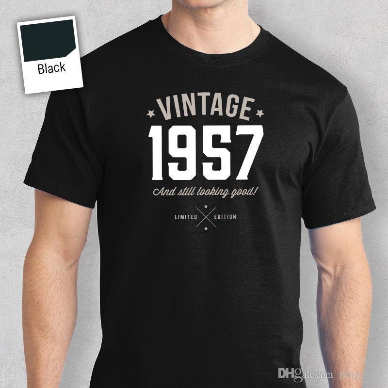 60th Birthday Gift Present Idea For Boys Dad Him Men T Shirt 60 Tee 1957 Sleeve Summer Tops Clothing Shirts With Sayings Awesome