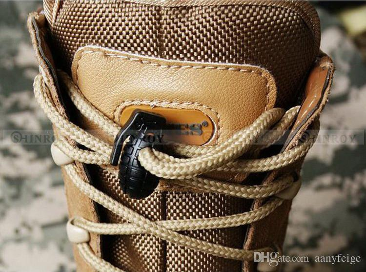 EDC Gear táctico exterior botas para caminar zapatos Shoelace apriete hebilla antideslizante Shoelace hebilla Clip envío gratis