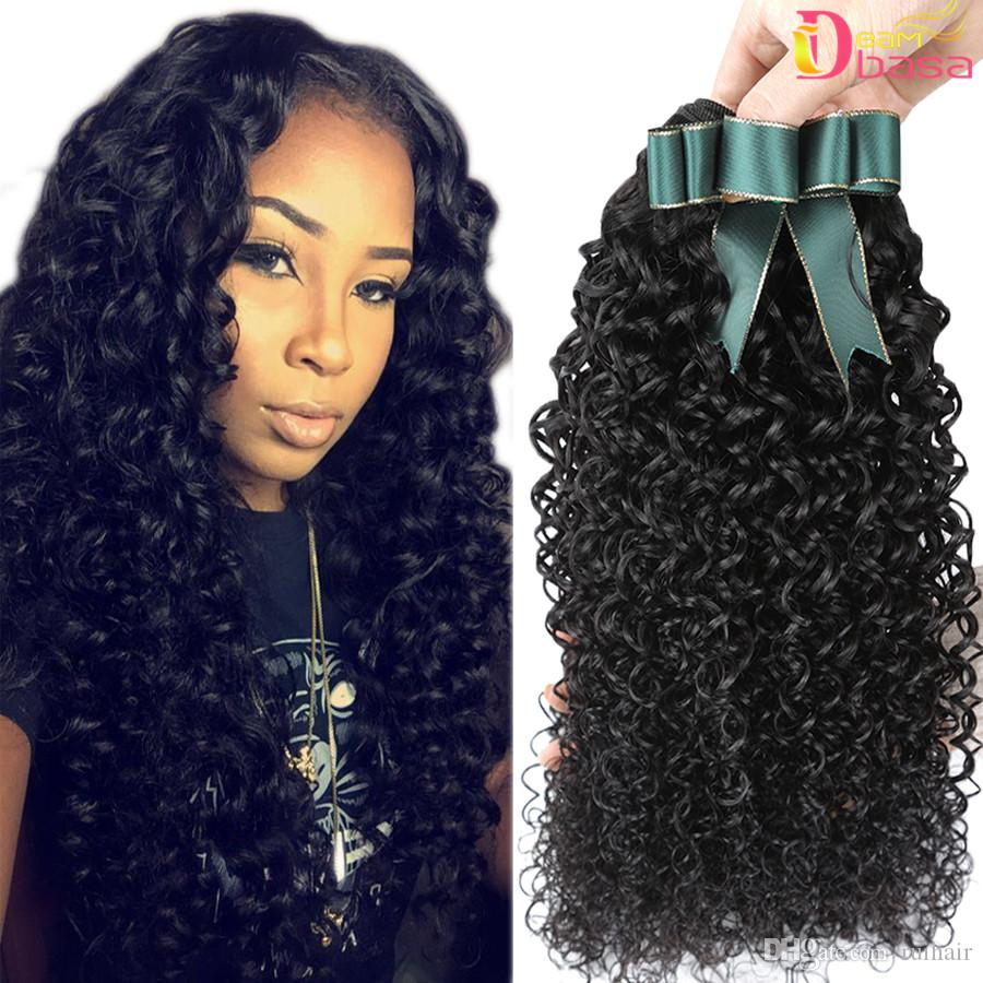 Brazilian Curly Wave Remy Virgin Human Hair Extensions Wholesale  Unprocessed Brazilian Peruvian Kinky Curly Weave Natural Color Can Be Dyed  Black Hair ... 95d039b1a