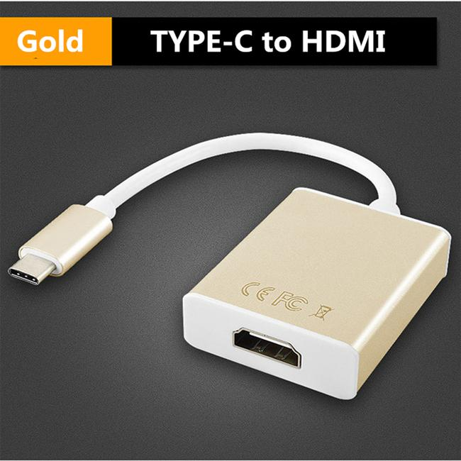 Female Adapter V1.4 Connector HDTV Type A Type C Male to HDMI 3x Mini HDMI