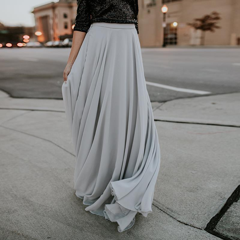c6216fb1d7 2019 2018 Women Elegant Floor Length Pleated Skirt Long Tulle Skirts Plus  Size Maxi Skirts Women Clothing Jupe Femme WS5131S S916 From Ruiqi02, ...