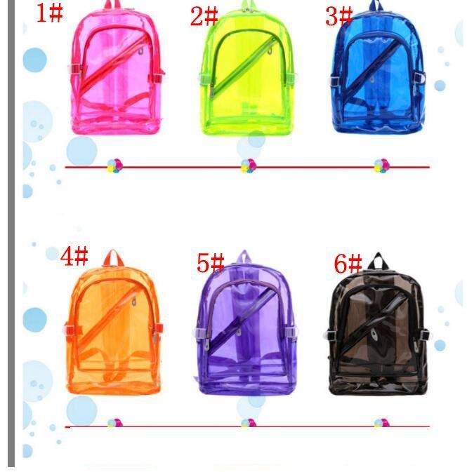 design senza tempo f6365 23a4e Zaini in PVC trasparente a 6 colori See Through Borsa da spiaggia da donna  Zaino da donna in gelatina Zaini trasparenti KKA5960