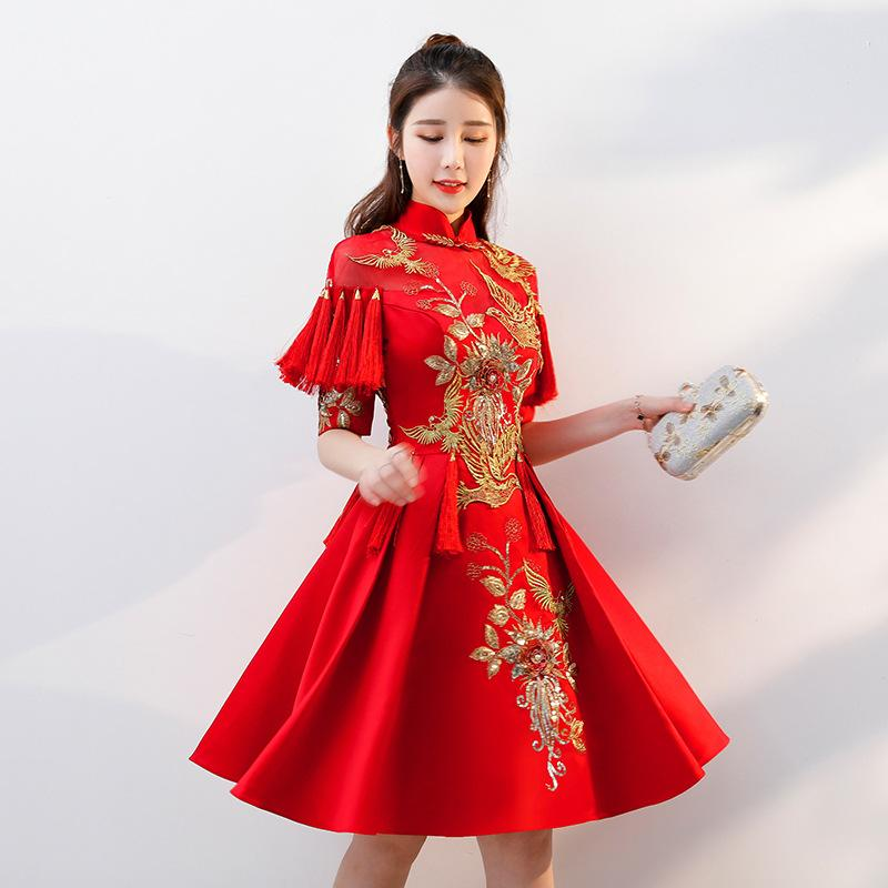 2018 Red Traditional Chinese Wedding Gown 2018 Ladies New Fashion ...