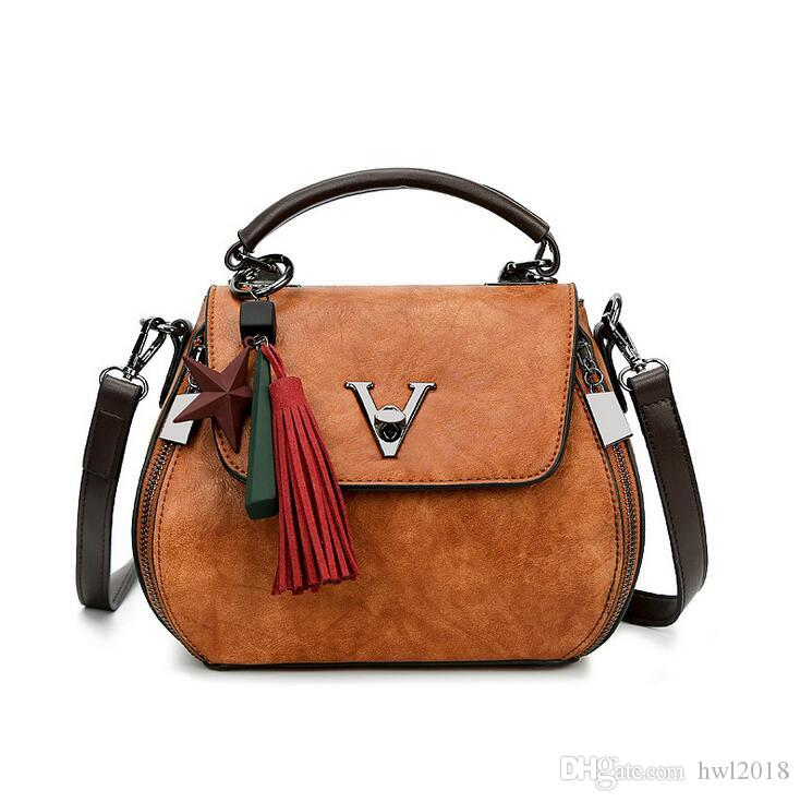 Women s Fashion New Handbags Hot European And American Style Trend High  Quality Leather Retro Solid Color Messenger Bag Women s Leather Handbag  Fashion ... 27512cb0bc7e2